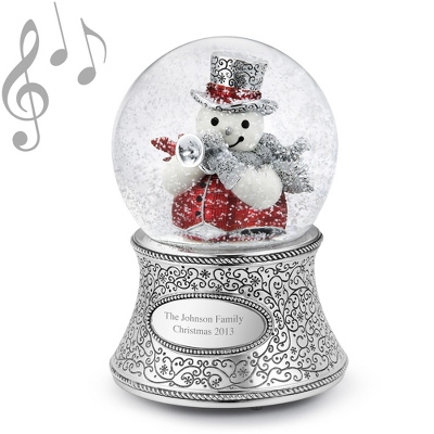 Personalized Trumpet Snowman Musical Waterglobe