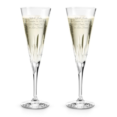 Personalized Cut Crystal Champagne Flutes - 17 products