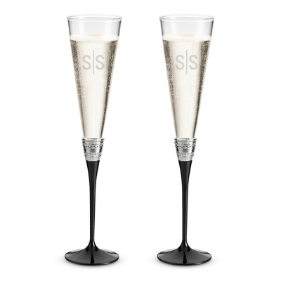Vera Wang by Wedgwood With Love Noir Toasting Flutes - Flutes & Servers