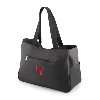 Charcoal Gina Tote - Embroidered Totes & Accessories