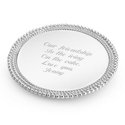 Mariposa Triple Pearl Cake Plate - 10th Anniversary Gifts