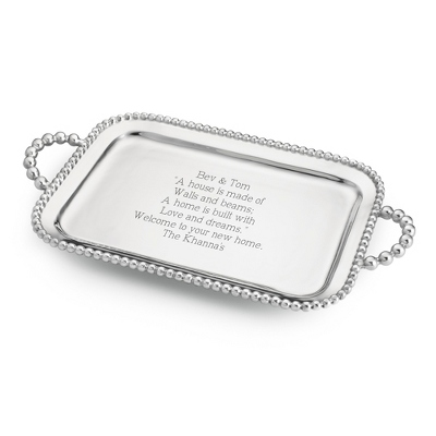 Mariposa Pearled Serving Tray - $180.00