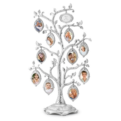 Satin Silver Heritage Tree - Collage Frames & Trees