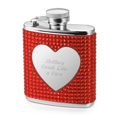 Red Bling Flask - Drinkware for Her