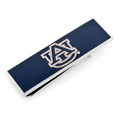 Auburn University Money Clip with complimentary Weave Texture Valet Box
