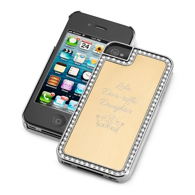 Surrounded Sparkle Gold iPhone 4 Case - UPC 825008328327