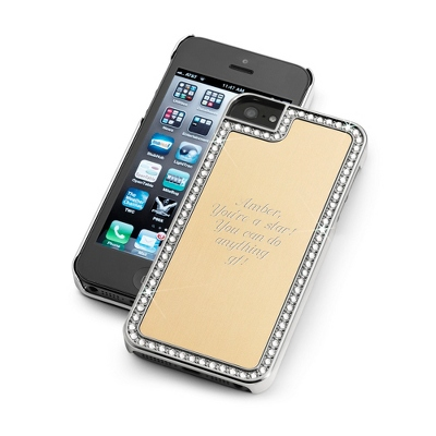 Surrounded Sparkle Gold iPhone 5 Case - UPC 825008328334