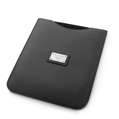 Pebble Grain Black iPad Sleeve