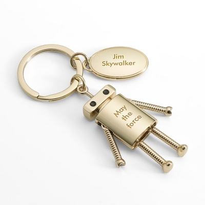 Gold Robot Key Chain - $14.99