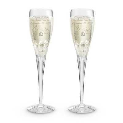Sophia Crystal Toasting Flute Set - Romantic Wedding