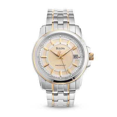 Men's Bulova Precisionist Two Tone Watch 98B156 - $400.00