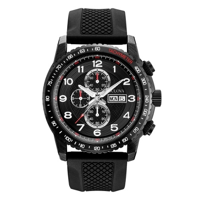 Men's Bulova Marine Star Sport Watch 98C112 with complimentary Black Lacquer Wrist Watch Box