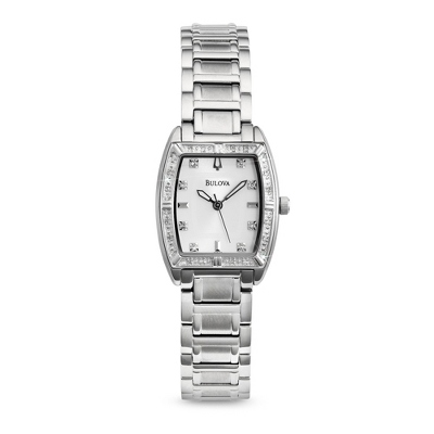 Ladies Bulova Diamond Highbridge Watch 96R162 with complimentary Filigree Keepsake Box - 1st Anniversary Gifts