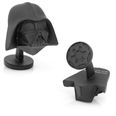 Star Wars 3D Darth Vader Head Cuff Links with complimentary Weave Texture Valet Box - Tie Bars & Cuff Links