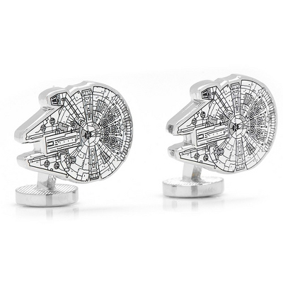 Star Wars Millenium Falcon Cuff Links - UPC 825008329027