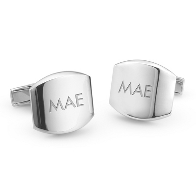 Sterling Silver Classic Cuff Links with complimentary Weave Texture Valet Box