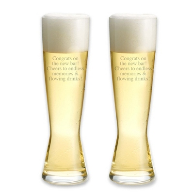 Spiegelau Tall Pilsner Set of 2 Glasses - Flasks & Beer Mugs