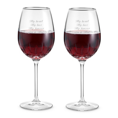 Waterford Lismore Essence Platinum Red Wine Goblets - $160.00