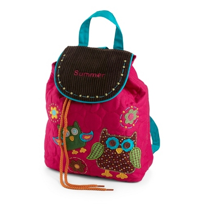 Personalized Owl Signature Quilted Backpack by Things Remembered