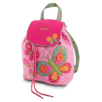 Personalized Butterfly Signature Quilted Backpack