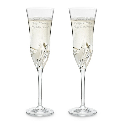 Cetona Toasting Flute Set - Cut Crystal Drinkware