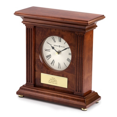 Wooden Engraved Clock
