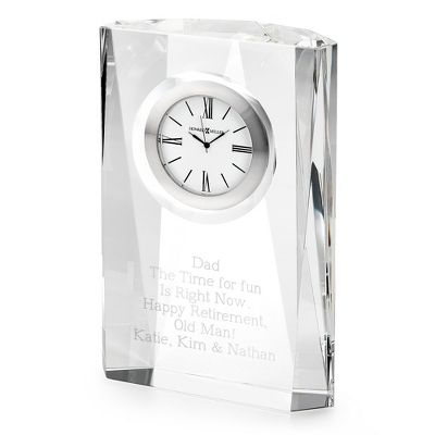 Recognition Engraved Crystal Clock - 3 products