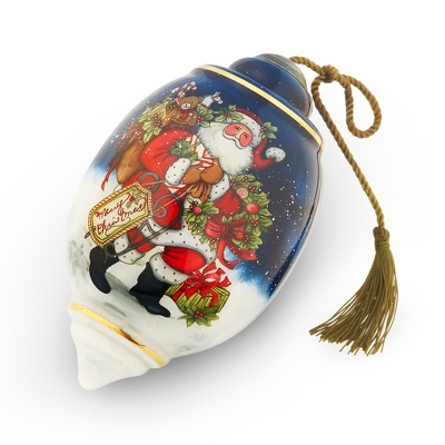 Hand Painted Snowy Christmas Ornament