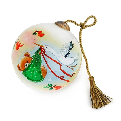 Hand Painted Baby First Christmas Ornament