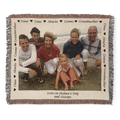 Landscape Grandma Photo Throw - Woven Photo Throws