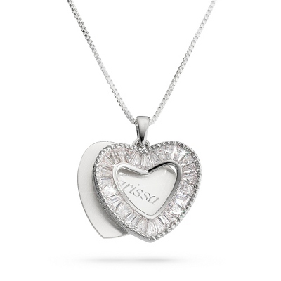 Crystal Heart Necklace with complimentary Filigree Keepsake Box