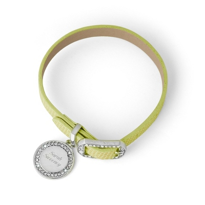 Green Leather Buckle Bracelet - $9.99