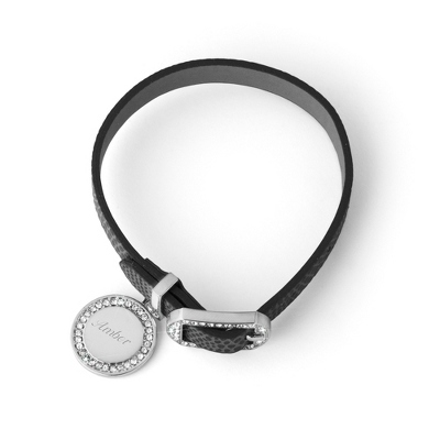 Black Leather Buckle Bracelet - UPC 825008330689
