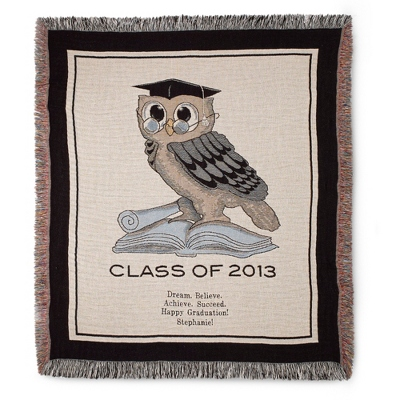 2013 Owl Graduation Throw - Family & Friends Throws