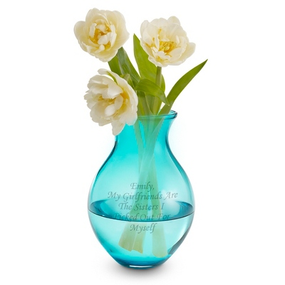 Peacock Blue Vase - UPC 825008331341
