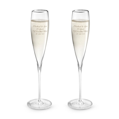 Savoy Platinum Rim Toasting Flute Set - Barware & Accessories