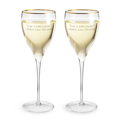 Savoy Gold Rim Wine Set - $39.99