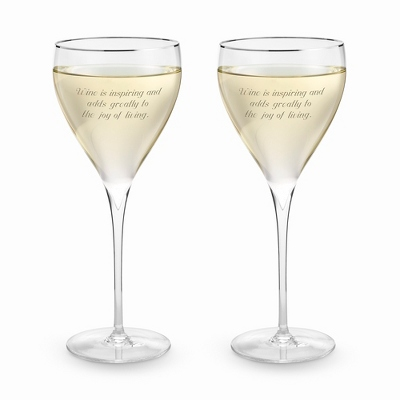 Savoy Platinum Rim Wine Set - $29.99