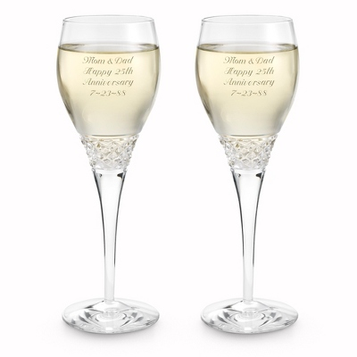 Diamond Cut Crystal Wine Set