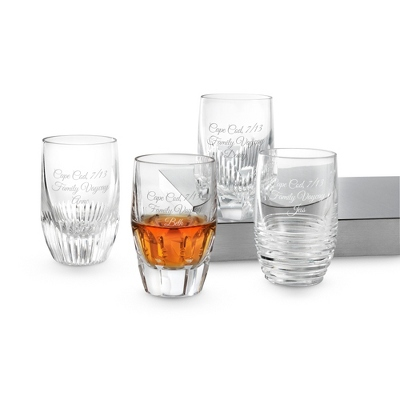 Personalized Waterford Mixology Set of 4 Shot Glasses