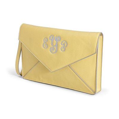 Lemon Envelope Clutch