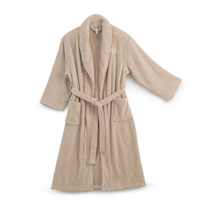 Small/Medium Latte Plush Robe - UPC 825008331907