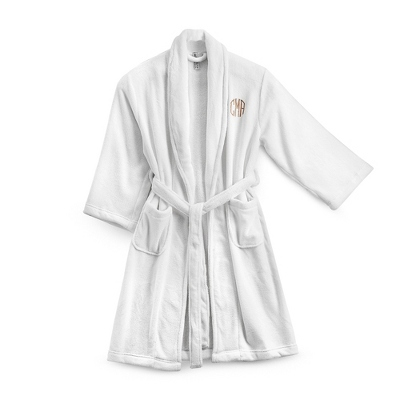 Small/Medium White Plush Robe