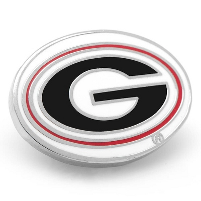 University of Georgia Lapel Pin with complimentary Weave Texture Valet Box - Men's Jewelry