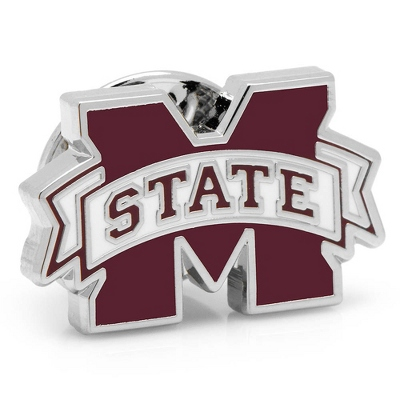 Mississippi State University Lapel Pin with complimentary Weave Texture Valet Box