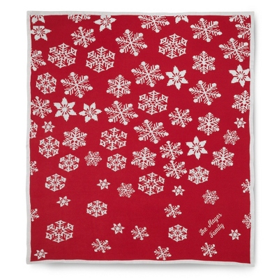 Snowflake Jaquard Throw - UPC 825008332478
