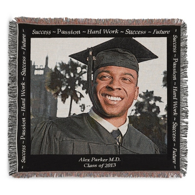 Landscape Graduation Photo Throw - Woven Photo Throws