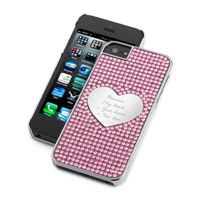 Pink Bling Heart iPhone 5 Case - Phone Cases & Accessories