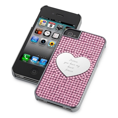 Pink Bling Heart iPhone 4 Case - Phone Cases & Accessories