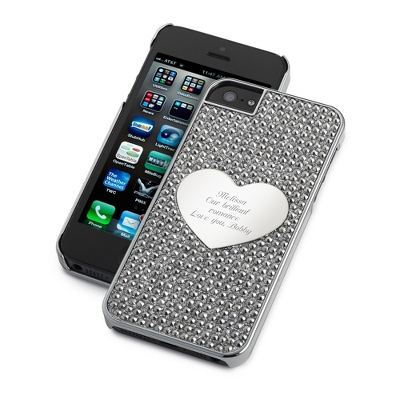 Midnight Bling Heart iPhone 5 Case